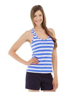 Nona Fitness Tank-M-Blue